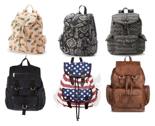 """""""Cute Backpacks For School"""" by hannahjq on Polyvore featuring Candie's, Forever 21 and Mudd"""