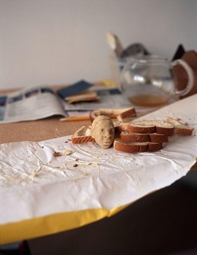 식빵(Wonder bread)으로 만든 유명인과 모형