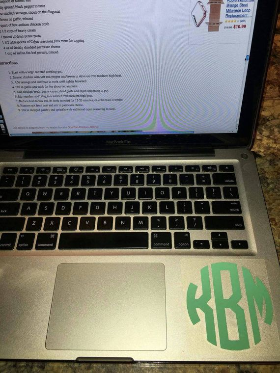 Check out this item in my Etsy shop https://www.etsy.com/listing/459242752/circle-monogram-laptop-decal
