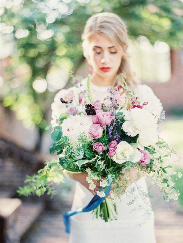 Romantic Wild Bridal Bouquet   Anna Peters Photography on @CVBrides via @aislesociety  via