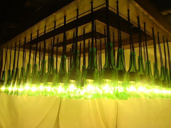Beer Bottle Chandelier made from 64 beer bottles on Etsy, $2,200.00