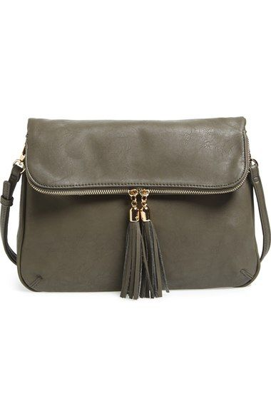 BP. Foldover Crossbody Bag available at #Nordstrom.  Love this in black!