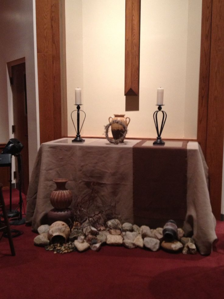 78 best images about lent on pinterest lutheran for Altar decoration ideas