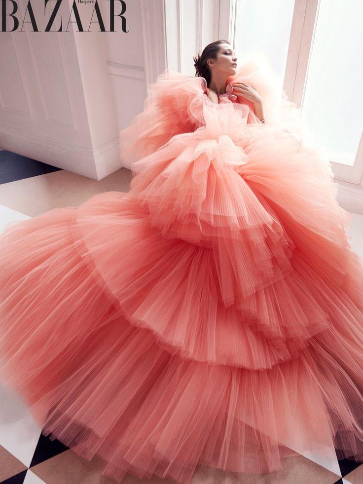 Bella Hadid Enchants in Haute Couture for Harper's Bazaar