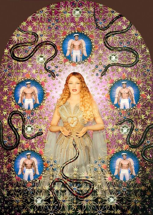 """Kylie Minogue in """"The Virgin with the Serpents"""" / Photographed by Pierre et Gilles"""