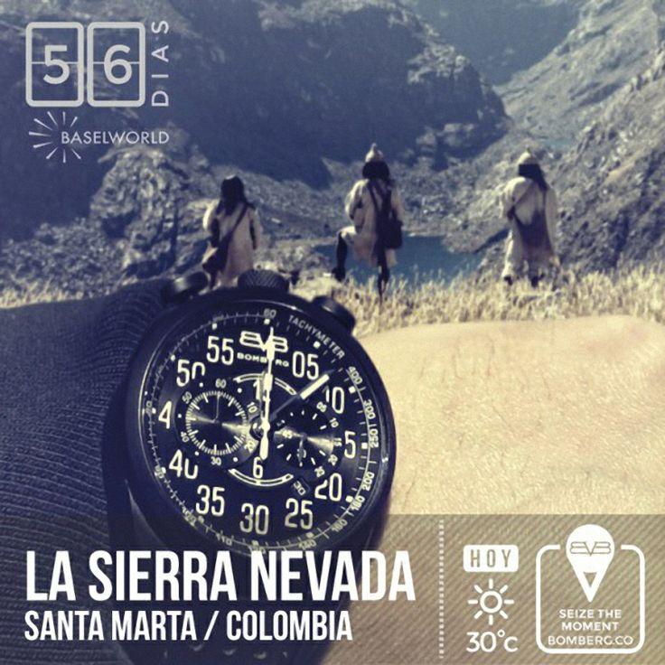 Marcando mis mejores momento con lujo gracias a mi reloj BOMBERG #SeizeTheMoment #timepieces #SierraNevada #SantaMarta #Colombia #56DaysToGo #BASELWORLD2014