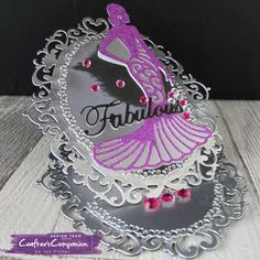 Easel card made using Sara Signature Glamour Collection designed by Jen Fisher #crafterscompanion