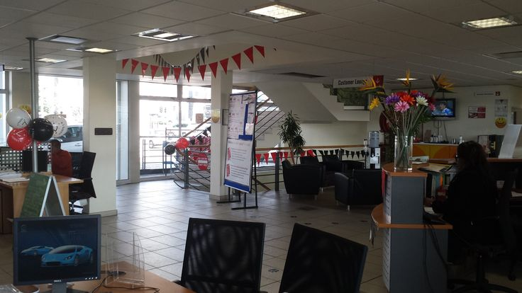 7th Birthday Celebrations - we decorated the reception area with flags and balloons!