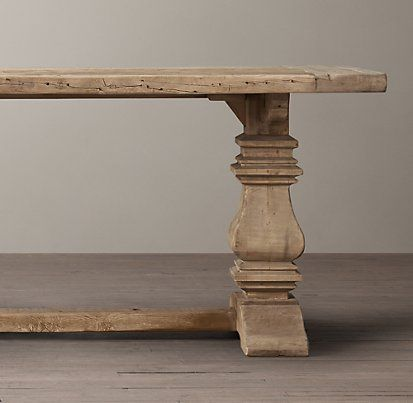 Salvaged Wood Trestle Rectangular Table | Restoration Hardware