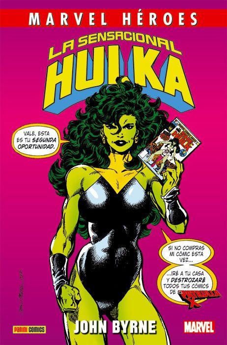 De Salvaxe a Sensacional, contempla como Hulka chega ata onde ningún outro superheroe de Marvel chegou xamais. É divertida, é sexy, rompe a cuarta parede e ata planta cara á súa propia autor. É Hulka, e aquí tes a mellor etapa da súa historia.