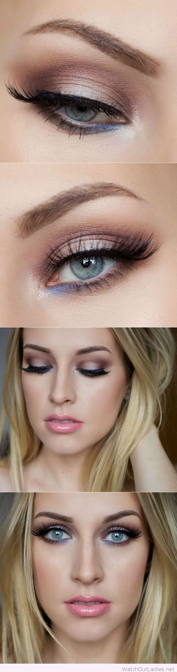 Para ojos azules resáltalos con un toque morado.  #Sombras #Ojos #Novias