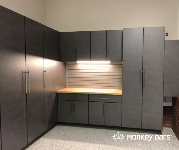 Garage Cabinets Slatwall Lighting We Are In Love With This
