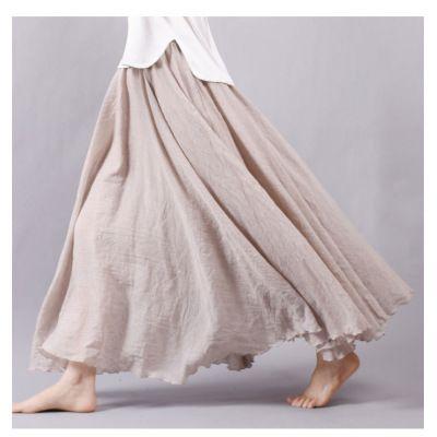 2length!12色全 綿 麻 ロングスカート スカート 膝下丈 80cm 90cm 無地 体型カバー 文芸 韓国ファッション仕入れ、問屋、メーカー・生産工場・卸売会社一覧