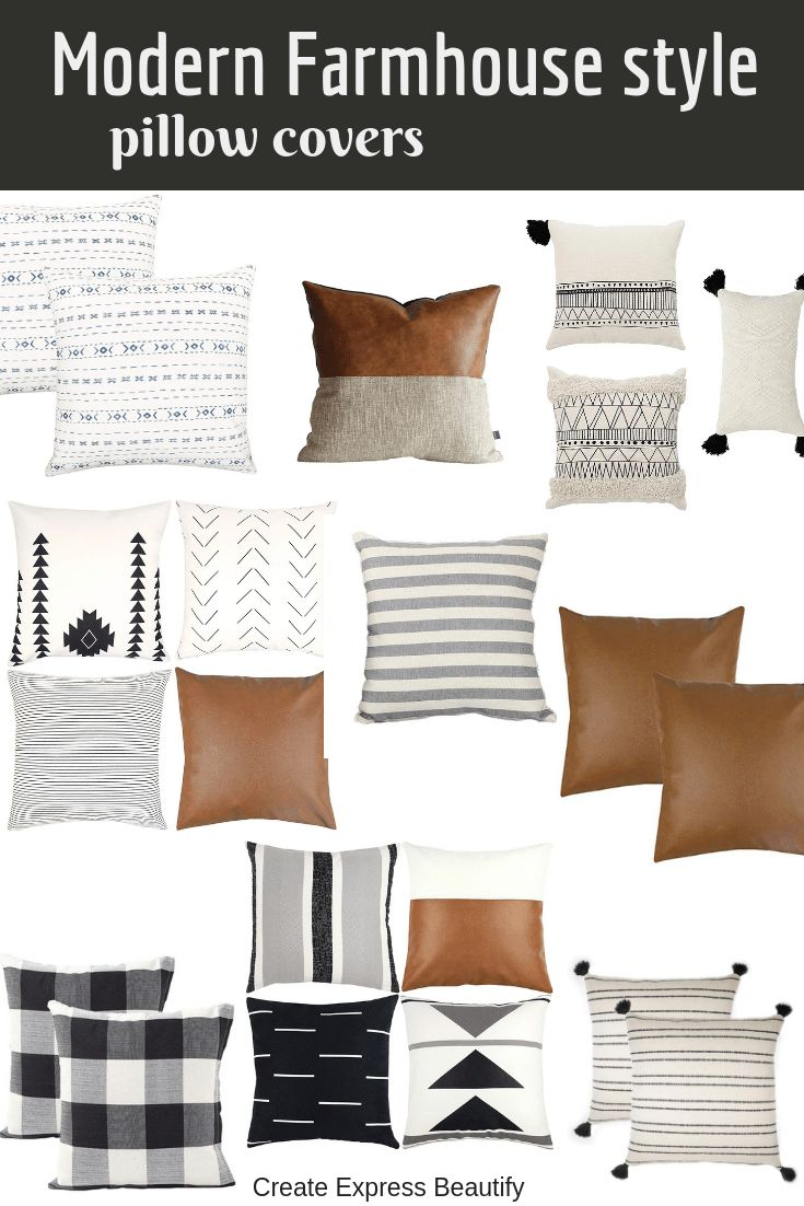 Modern Farmhouse Style Pillow Covers