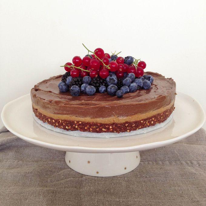 Raw Chocolate Ganache Butterscotch Cake