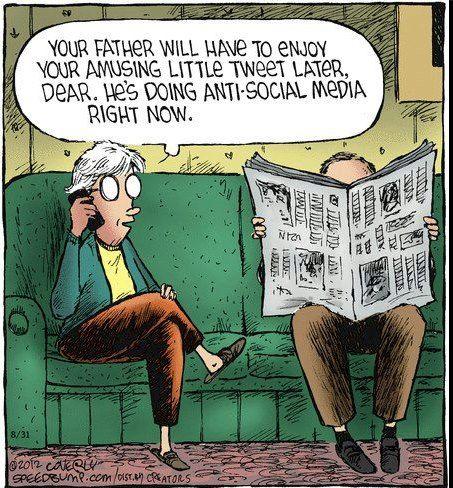 Anti social media #humor.  SocialContentMasters.com