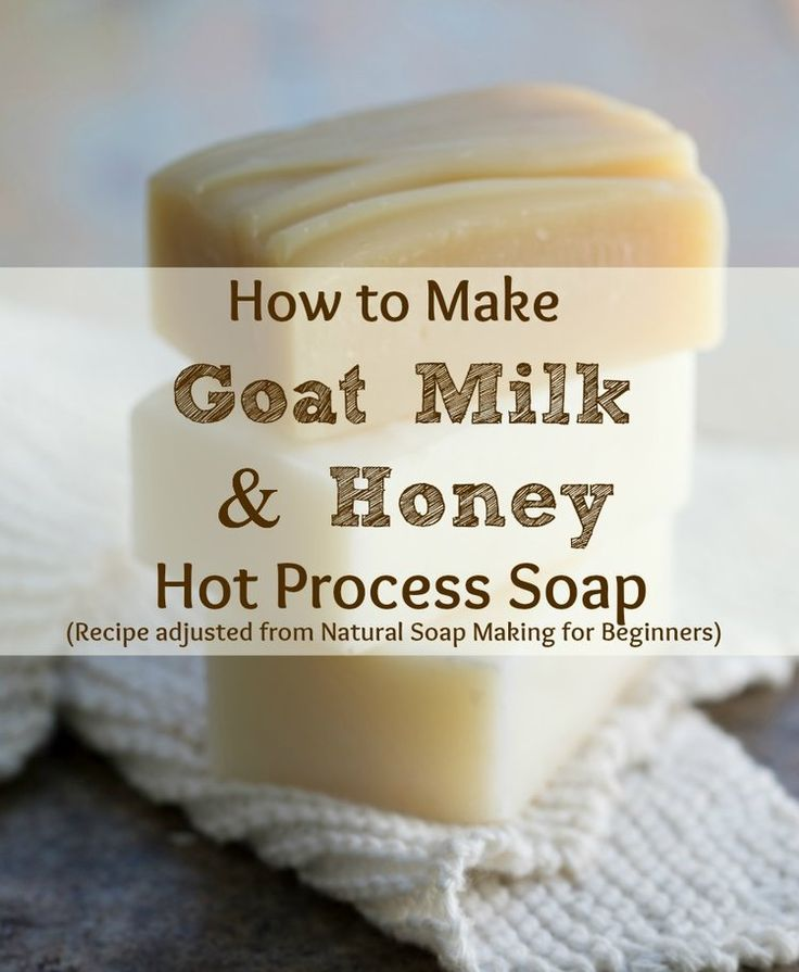 How to make goat milk honey hot process soap a quick