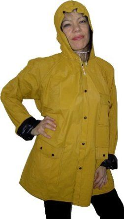 Schicker XL Damen / Herren PVC Regenmantel Regenjacke mit Wendefunktion (gelb / blau) Top-Preis « Regenmantel Damen