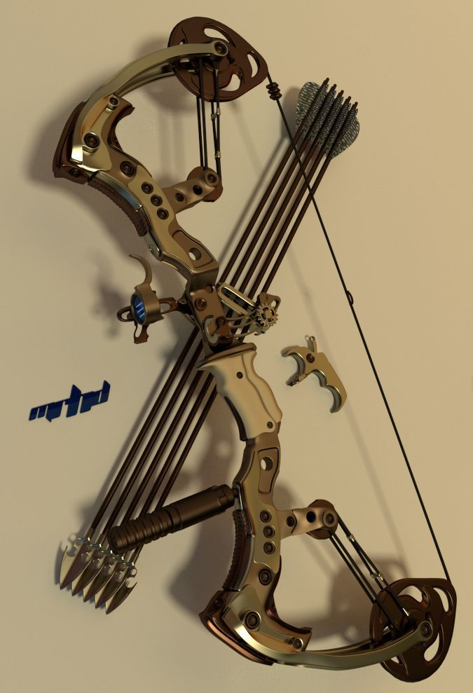 Compound Bow, used for hunting... just so you can see the difference in bows. (Needless to say, I will not be hunting!)