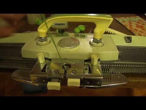 Tejido a Maquina: Partes de la maquina y Preparación para tejer - YouTube