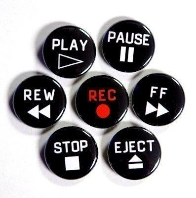 Platine cassette Magnétoscope boutons Set de 7 par theangryrobot