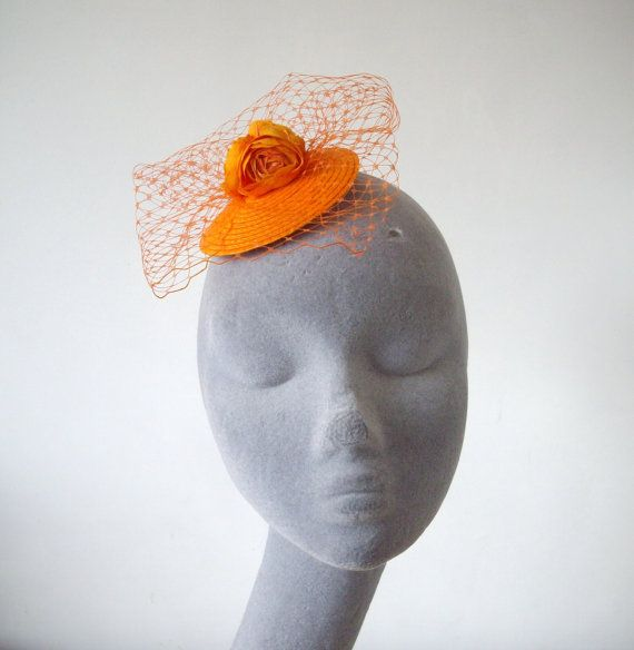 Hey, I found this really awesome Etsy listing at https://www.etsy.com/listing/231427869/orange-fascinator-orange-flower
