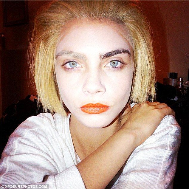 Cara Delevingne Without Makeup | Model of 2013 Cara Delevingne has ditched her normal runway look for a ...