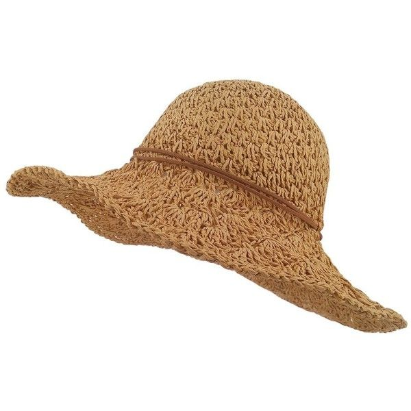 LETHMIK Womens Floppy Straw Hat Summer Beach Brimmed Ladies Crushable... (905 INR) ❤ liked on Polyvore featuring accessories, hats, floppy sun hat, floppy hats, summer hats, straw sun hat and floppy beach hat