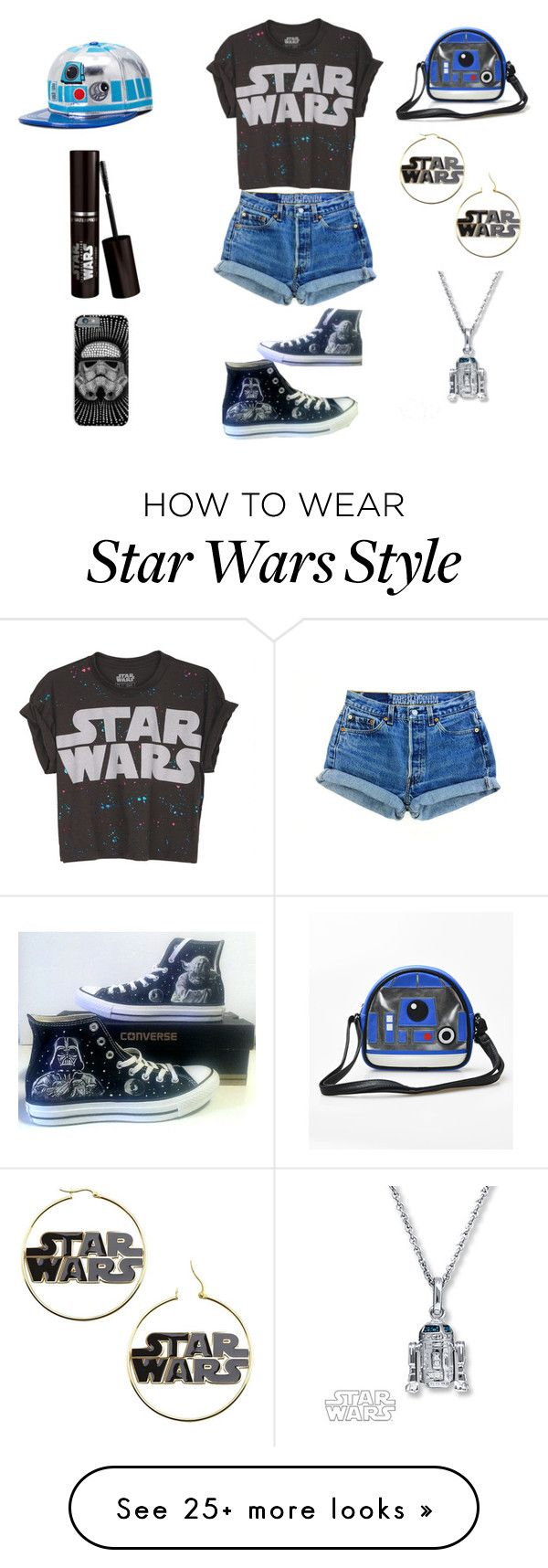 """Star Wars⭐️"" by hals7star on Polyvore featuring R2, Levi's and Converse"