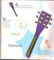 muziekinstrument van houten spatel, knutselen met kleuters