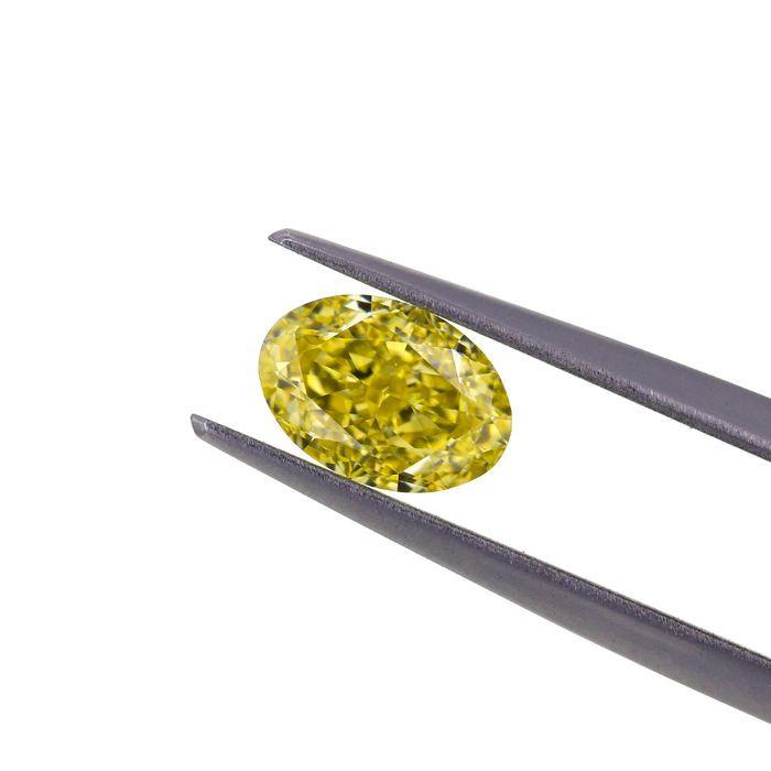 Natuurlijke Fancy Intense gele 124 ct. VS1 ovale vorm Diamond GIA  Natuurlijke Fancy Intense gele 124 ct. VS1 ovale vorm diamant met zeer goede snit en uitstekend best geschikt voor de hanger en ring kern gepolijst. Het is vervaardigd en de beste bron van natuurlijk geel gekleurde diamanten van de Angolese ruwe gepolijst. De steen wordt geleverd met GIA certificering #2173635700GIA CERTIFICAAT: 2173635700. ANTWERPEN BELGIËKaraatgewicht: 124 karaatDuidelijkheid Grade: VS1Afmetingen: 7.66 X…