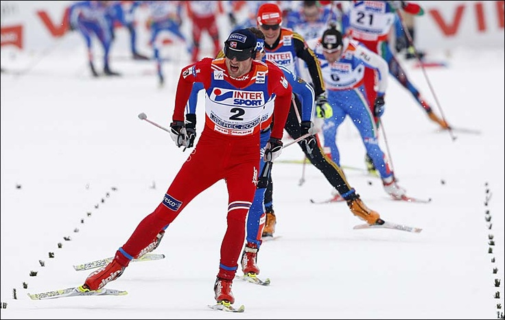 Nordic racing and skiing in general!  Love racing skate especially and I'm a huge fan of Norway's Petter Northug who's got some of the craziest sprint speed on the World Cup circuit!   -BYRON