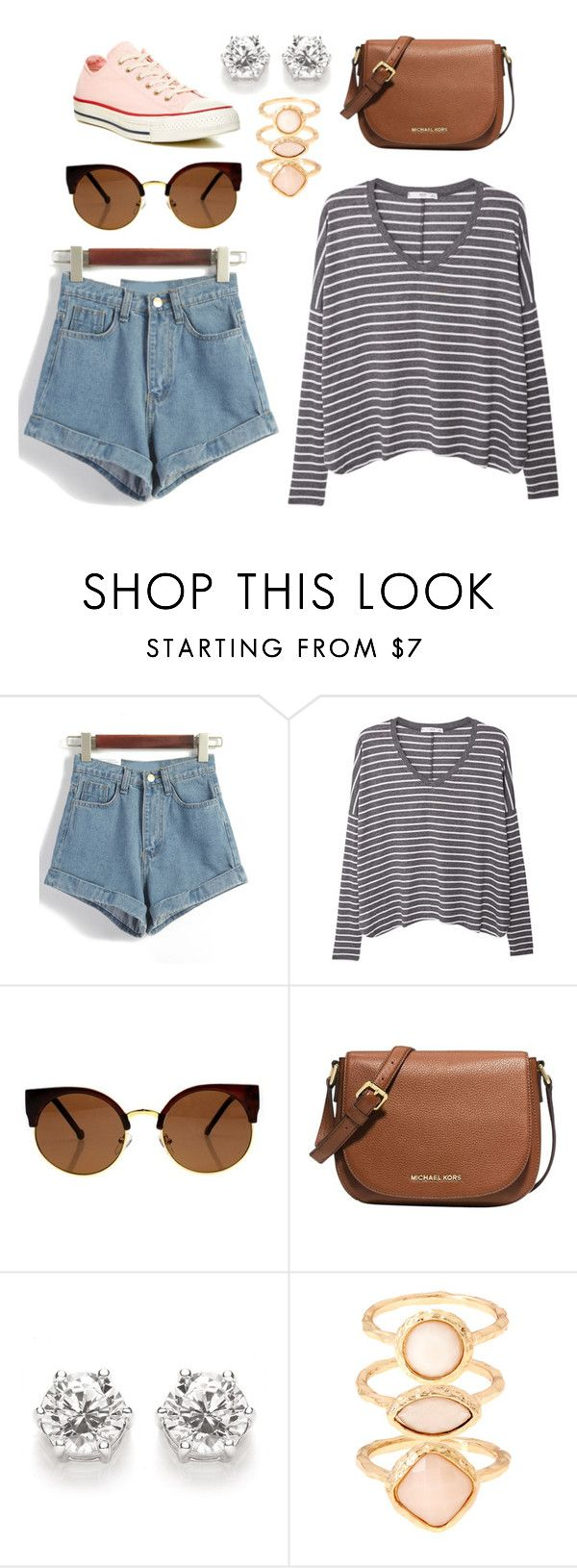 """""""spring weekend casual"""" by mason-h on Polyvore featuring MANGO, Michael Kors, Monsoon, Converse, casual and spring2016"""