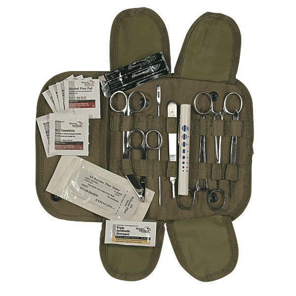 US Patriot Tactical - Voodoo Tactical Complete Universal Surgical Kit, $28.95 (http://uspatriottactical.com/voodoo-tactical-complete-universal-surgical-kit/)