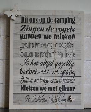 Bij ons op de camping