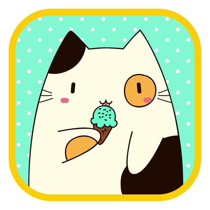 #LlaveNegra #manchado #cat #icecream #IlustraciónDigital #Illustrator #Photoshop.