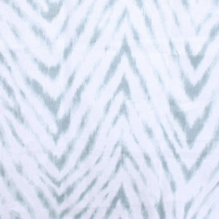 As featured in Sarah's Rental Cottage on HGTV!A stunning, watery blue and creamy white chevron fabric. Suitable for upholstery, drapery, curtains, roman blinds,