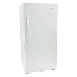 haier huf168pb 16.8 cubic foot capacity full size frost free freezer white