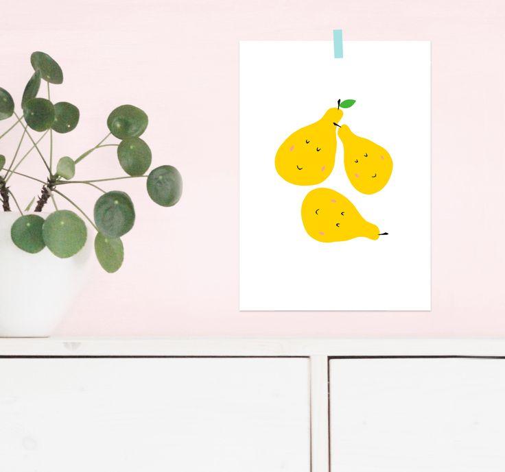 #posters #wandbilder #wandschmuck #kunstdruck #poster #posterprint #print #kinderposter #kinderzimmerbild #kinderzimmer #kidsroom #babyzimmer #babyroom #birne #kidsillustration #illustration #obst