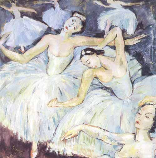 Ballet Dancers (1943). Irma Stern (South African, 1894-1966). Image courtesy of The UCT Irma Stern Museum.