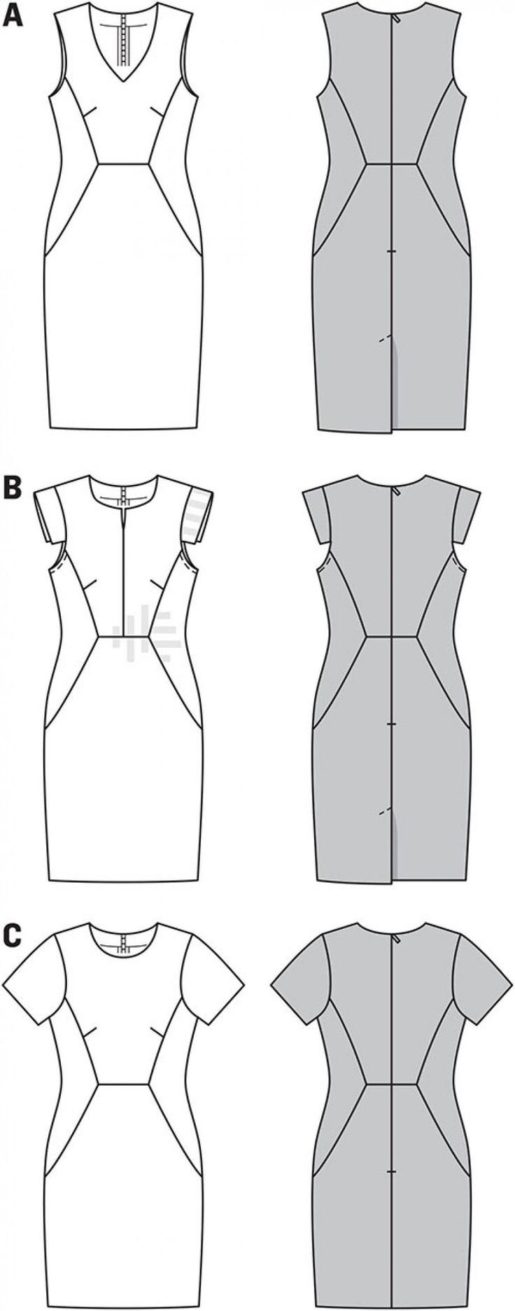 Simplicity B6916 Burda Style Dresses Sewing Pattern