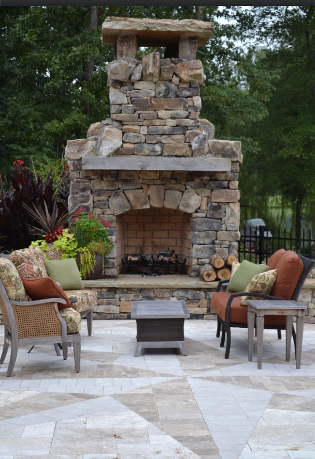 118 best fireplaces & rustic patio/outdoor kitchens images on ... - Patio With Fireplace Ideas