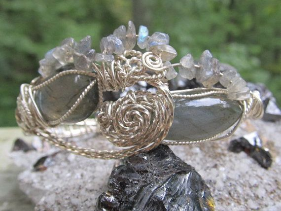 Labradorite Sterling Silver wire wrapped by DivineTreasurestc, $142.00