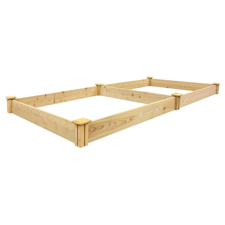 Miracle-Gro 48 in. L x 48 in. W x 11 in. H Cedar Raised Garden Bed, Natural