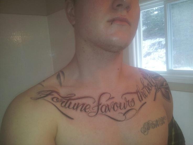 Half chest tattoo quotes