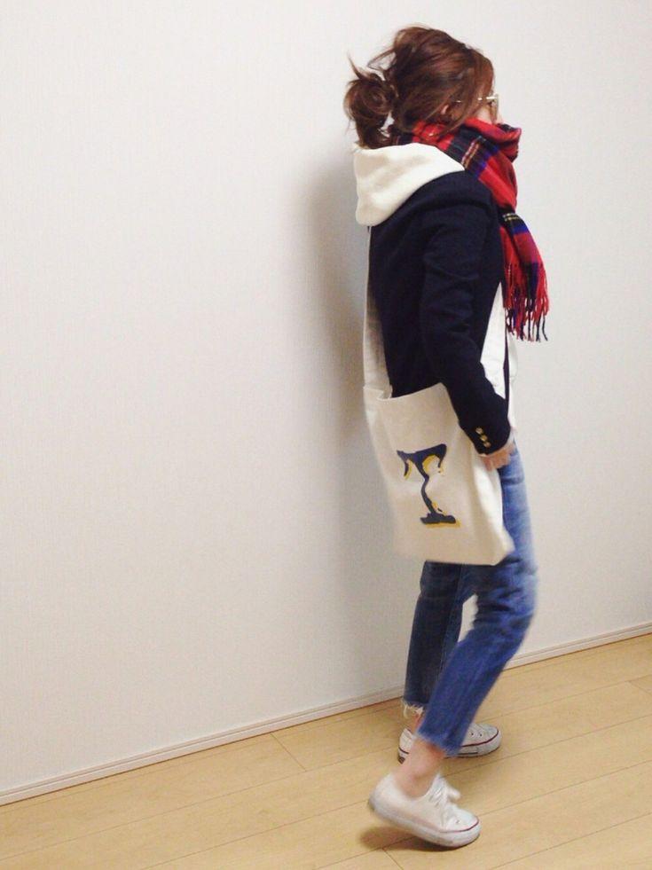 CONVERSEのスニーカーを使ったmayumiさんのコーディネートです。│ここで一句。インスタを再開しまし...