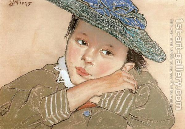 Girl-In-A-Blue-Hat.jpg (600×418)