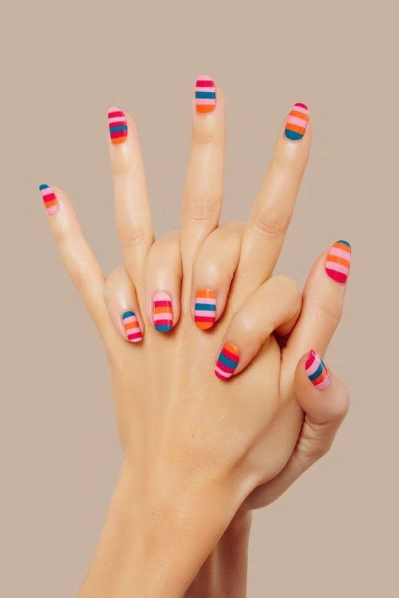 Stripes and Tape Nail Art Designs 2018, It may stun you to understand that decor…