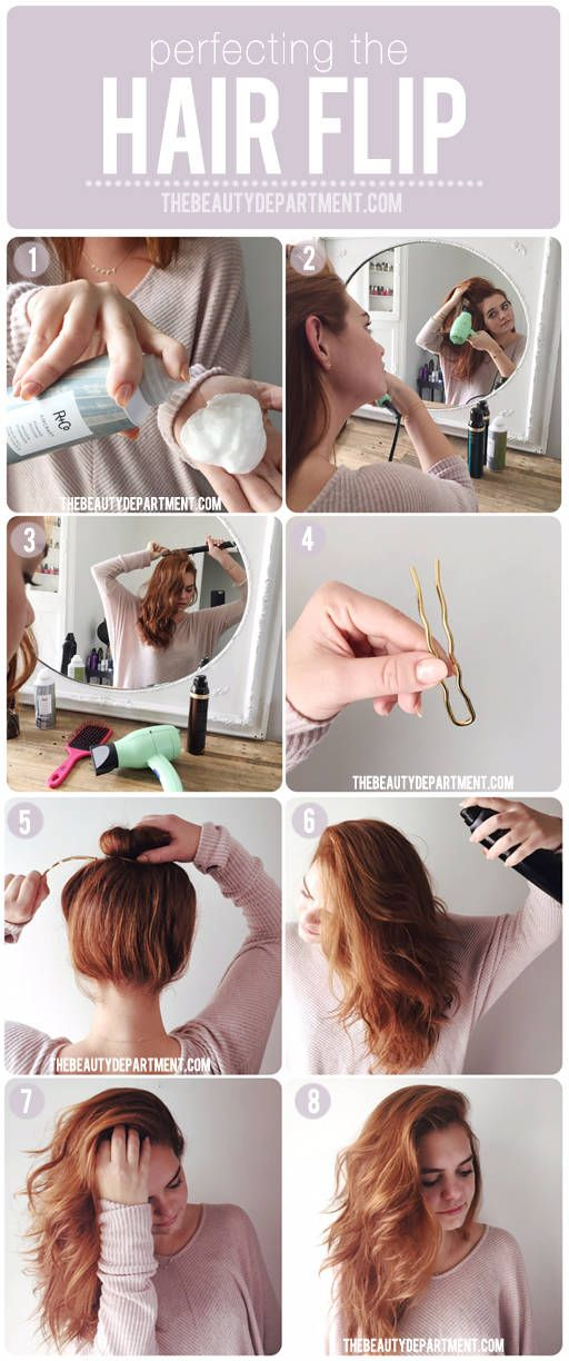 how to perfect the hair flip via thebeautydepartment