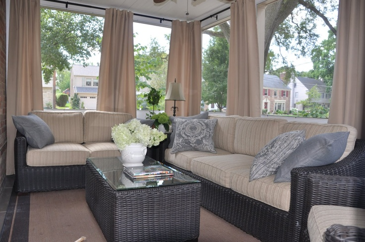 17 best ideas about sunroom curtains on pinterest corner for Sunroom blinds ideas